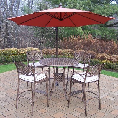 Thelma 5 Piece Bar Height Dining Set With Cushions by Astoria Grand Savings