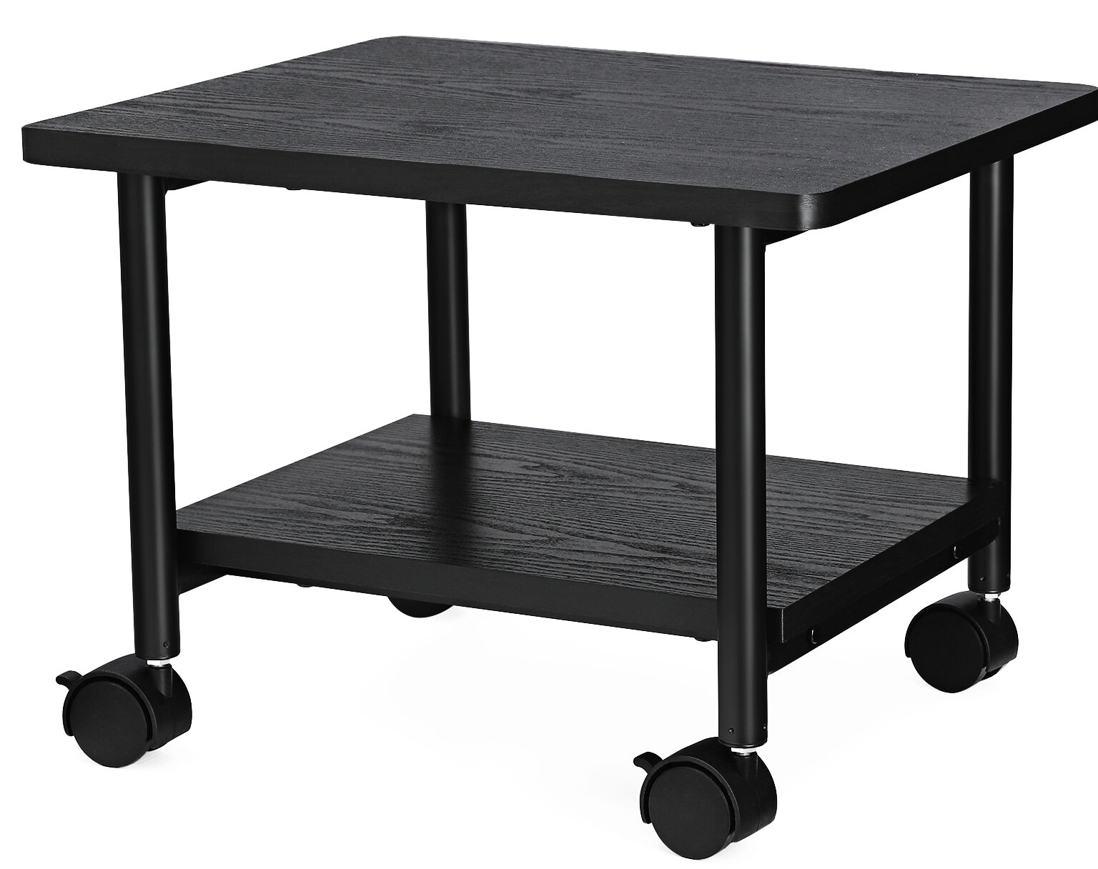 Songmics Under Desk Mobile Printer Stand with Shelf and Heavy Duty