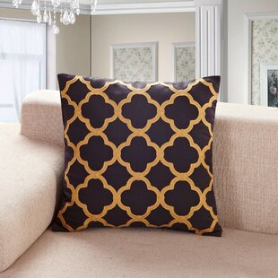 Alsager Embroidered Clover Throw Pillow