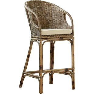 Augustine Rattan 28'' Bar Stool by Birch Lane? Heritage
