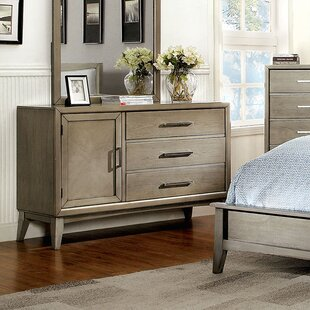 Latitude Run Siding Spring 3 Drawer Combo Dresser with Mirror