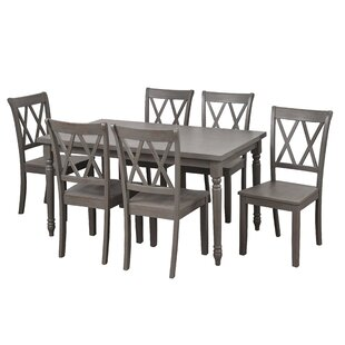 Kristopher 7 Piece Dining Set Ophelia & Co.
