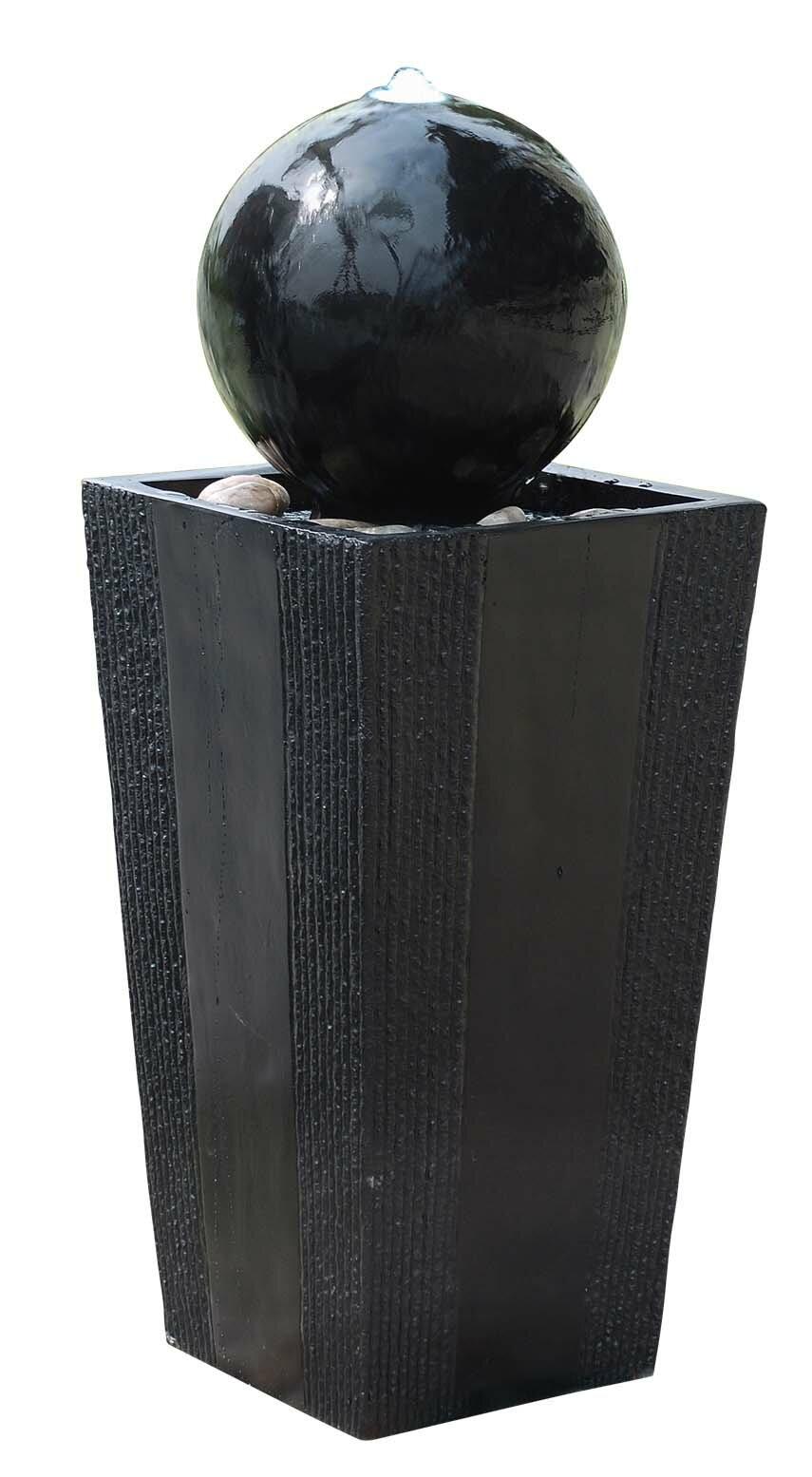 Alpine Fiberglass Ball On Stand Fountain With Led Light