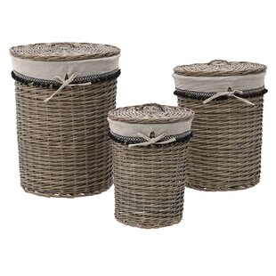 3 Piece Wicker Laundry Set By Brambly Cottage