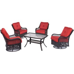 Alcott Hill Innsbrook 5 Piece Conversation Seat with Cushions