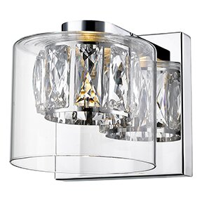 Ararinda Crystal 1-Light Bath Sconce by House of Hampton