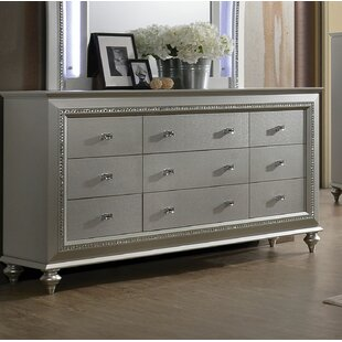 Dehon 9 Drawer Standard Dresser by Rosdorf Park Today Sale Only
