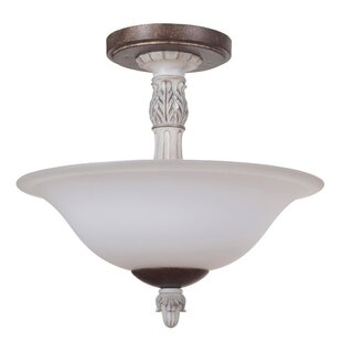Lagrone 2-Light Semi Flush Mount by Ophelia & Co.