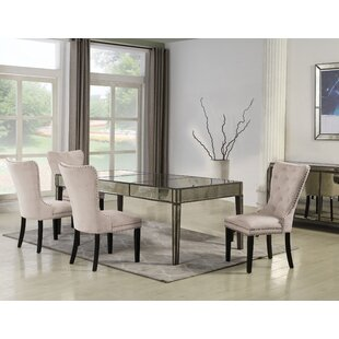 Marlin 5 Pieces Solid Wood Dining Set Rosdorf Park