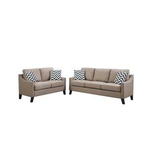 Bobkona Debora 2 Piece Living Room Set by Poundex