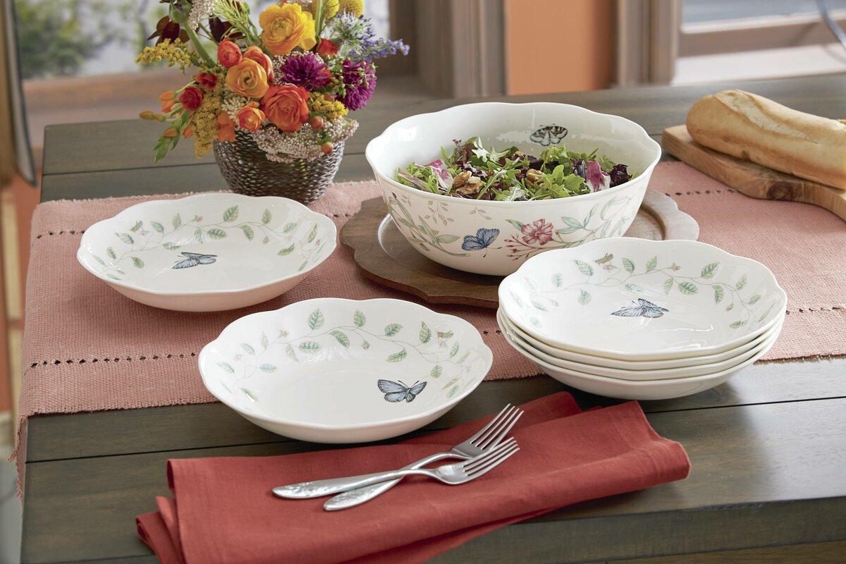 Lenox butterfly meadow 7 piece pasta salad bowl set reviews butterfly meadow 7 piece pasta salad bowl set reviewsmspy