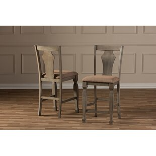 Carpentier Shabby Elegance Weathered Counter 25.5 Bar Stool (Set of 2)