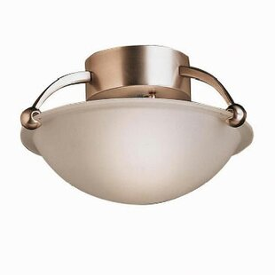Kichler Brushed Nickel IncandescentSemi Flush Mount