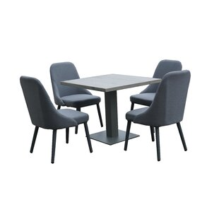 Josephine 4 Seater Dining Set By Isabelline