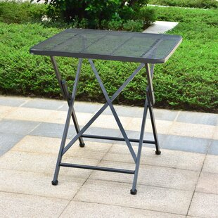 Signe Contemporary Folding Iron Bistro Table by Darby Home Co Read Reviews