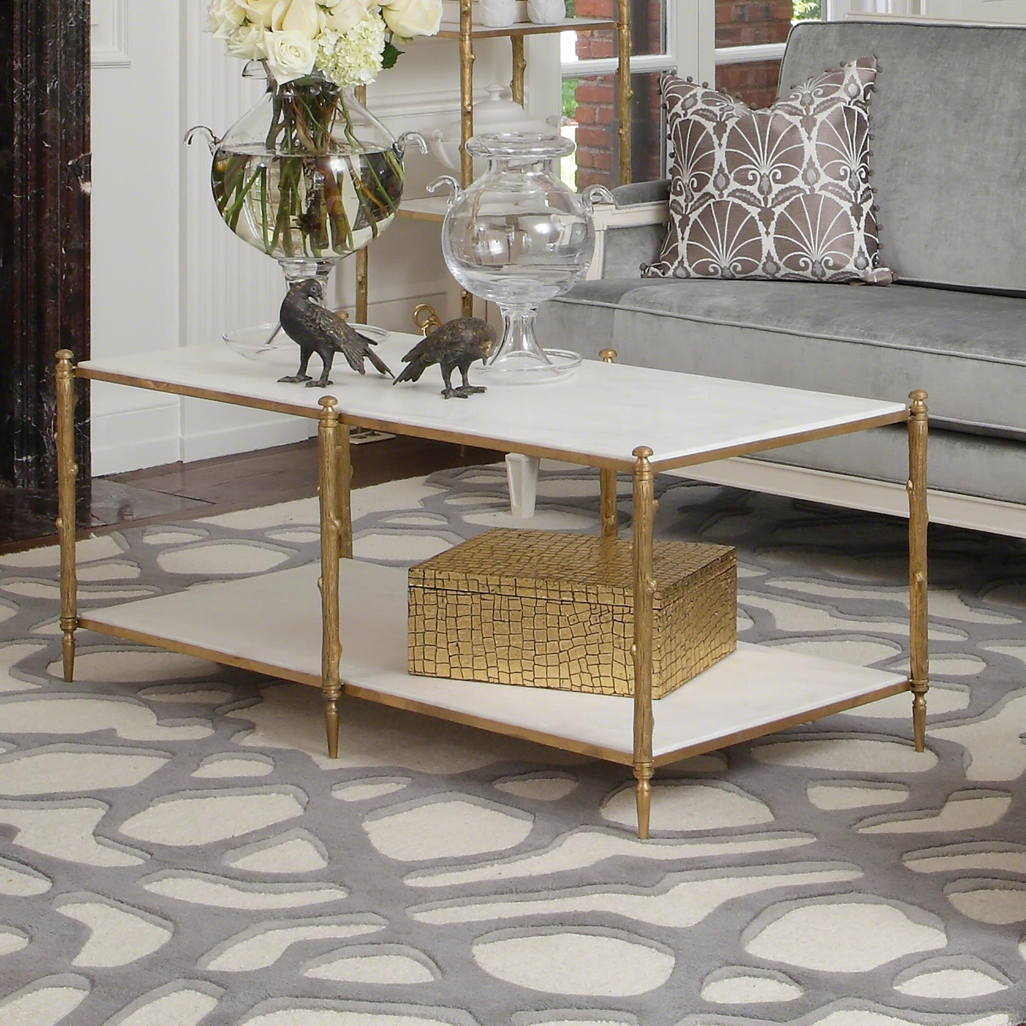 Global Views Arbor Coffee Table With Tray Top Wayfair
