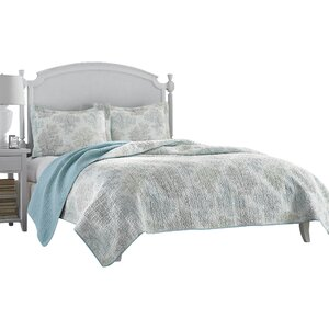 Saltwater 100% Cotton Reversible Coverlet Set by Laura Ashley Home