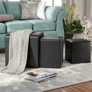 Lamberth 4 Piece Multi Functional Storage Ottoman Set