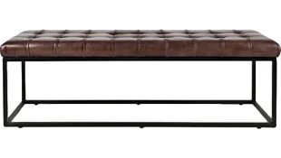 17 Stories Carroll Genuine Leather Bench