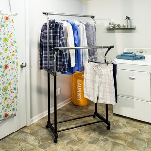 33.5 W Double Hanging Garment Rack by Honey Can Do