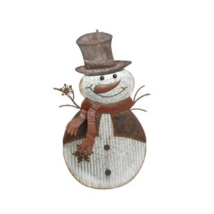 Metal Snowman Easel by The Holiday Aisle