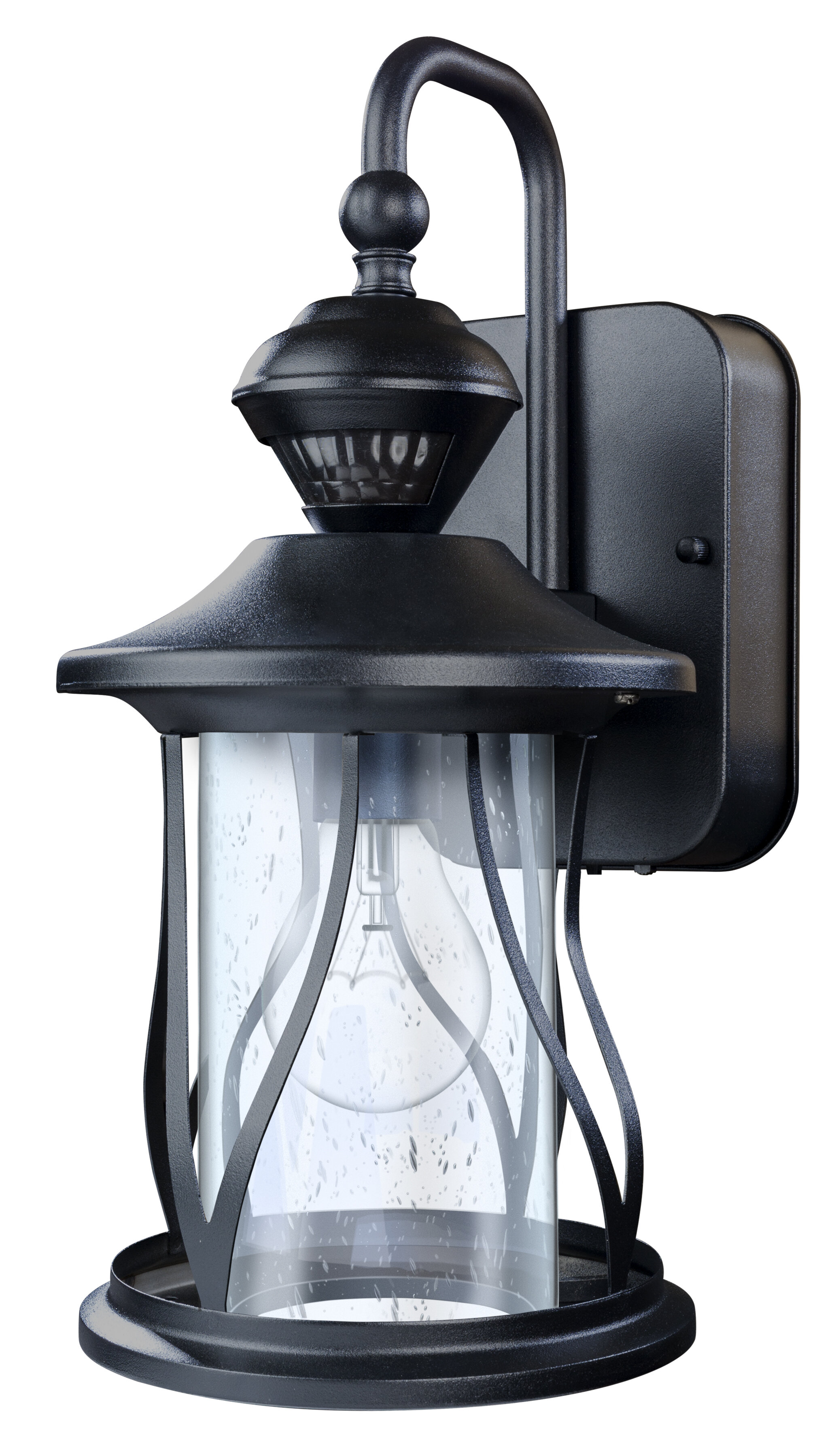 Darby Home Co Justice 150 Motion Activated Decorative 1 Light Outdoor Wall Lantern Reviews Wayfair