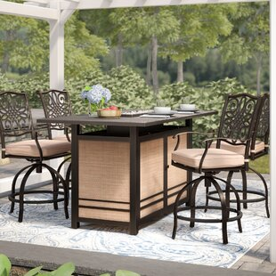 Three Posts Lauritsen 5 Piece Dining Bar Height Dining Set