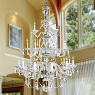 Astoria Grand Pulaski 21-Light Candle Style Chandelier