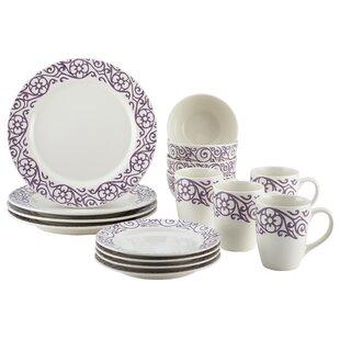 Cucina 16 Piece Dinnerware Set Service for 4  sc 1 st  Wayfair & Mediterranean Dinnerware | Wayfair