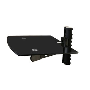 Wall Mounted TV and Component Shelf Combo DVD DVR VCR Wall Mount Bracket b..