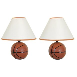 Ismay Basketball 12 Table Lamp (Set Of 2) by Harriet Bee No Copoun