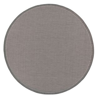 Ariadne Saddle Stitch Gray Indoor/Outdoor Area Rug by Charlton Home