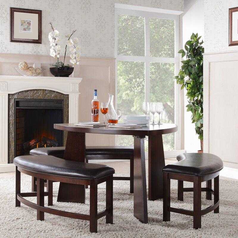 Red Barrel Studio Anton 4 Piece Dining Set & Reviews | Wayfair
