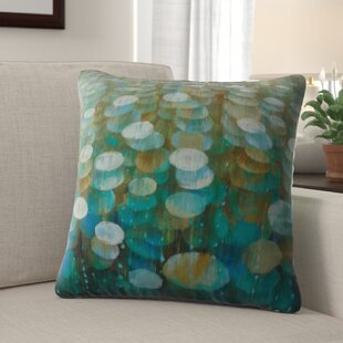 Medellin 'Rain Drops' Velvet Throw Pillow