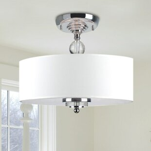 Mckeehan Crystal Decorated 3-Light Semi Flush Mount by House of Hampton