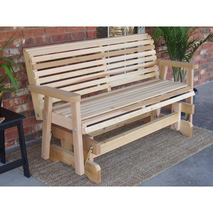 Awe Inspiring Jessica Cedar Glider Bench Andrewgaddart Wooden Chair Designs For Living Room Andrewgaddartcom