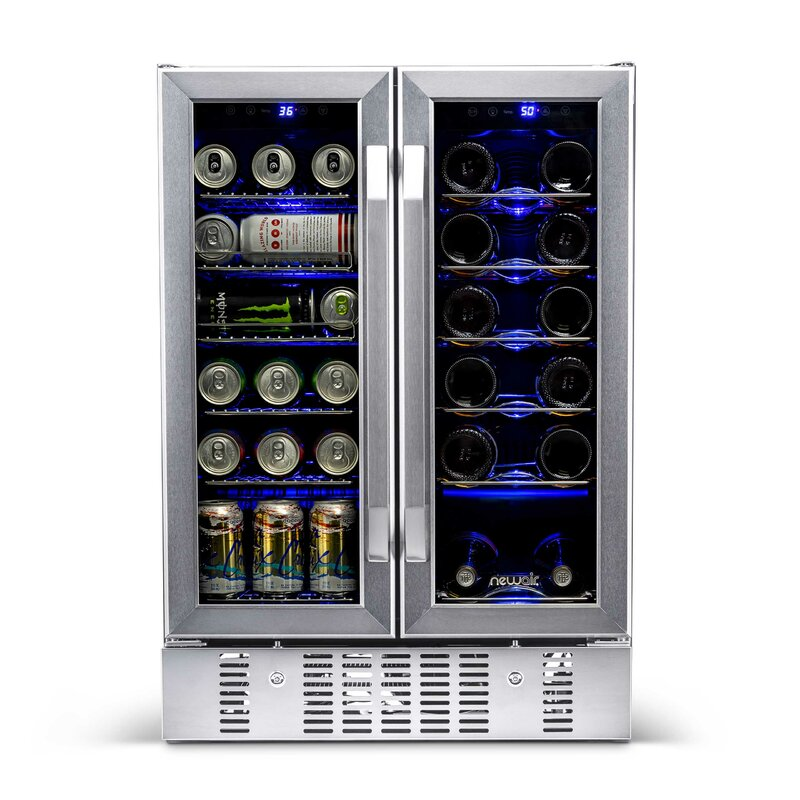 18 Bottle and 58 Can Dual Zone Freestanding Wine and Beverage Refrigerator