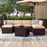 Belton 8 Piece Rattan Sectional Seating Group with Cushions by Mercury Row®