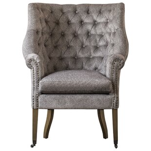 Calla Tufted Wingback Chair by One Allium Way 2019 Sale