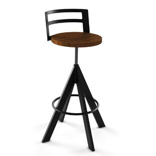 Louque Adjustable Height Bar Stool Brayden Studio