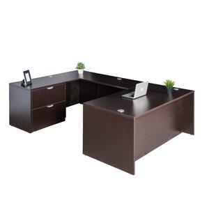 Symple Stuff Contemporary 4 Piece U-Shape Desk Office Suite
