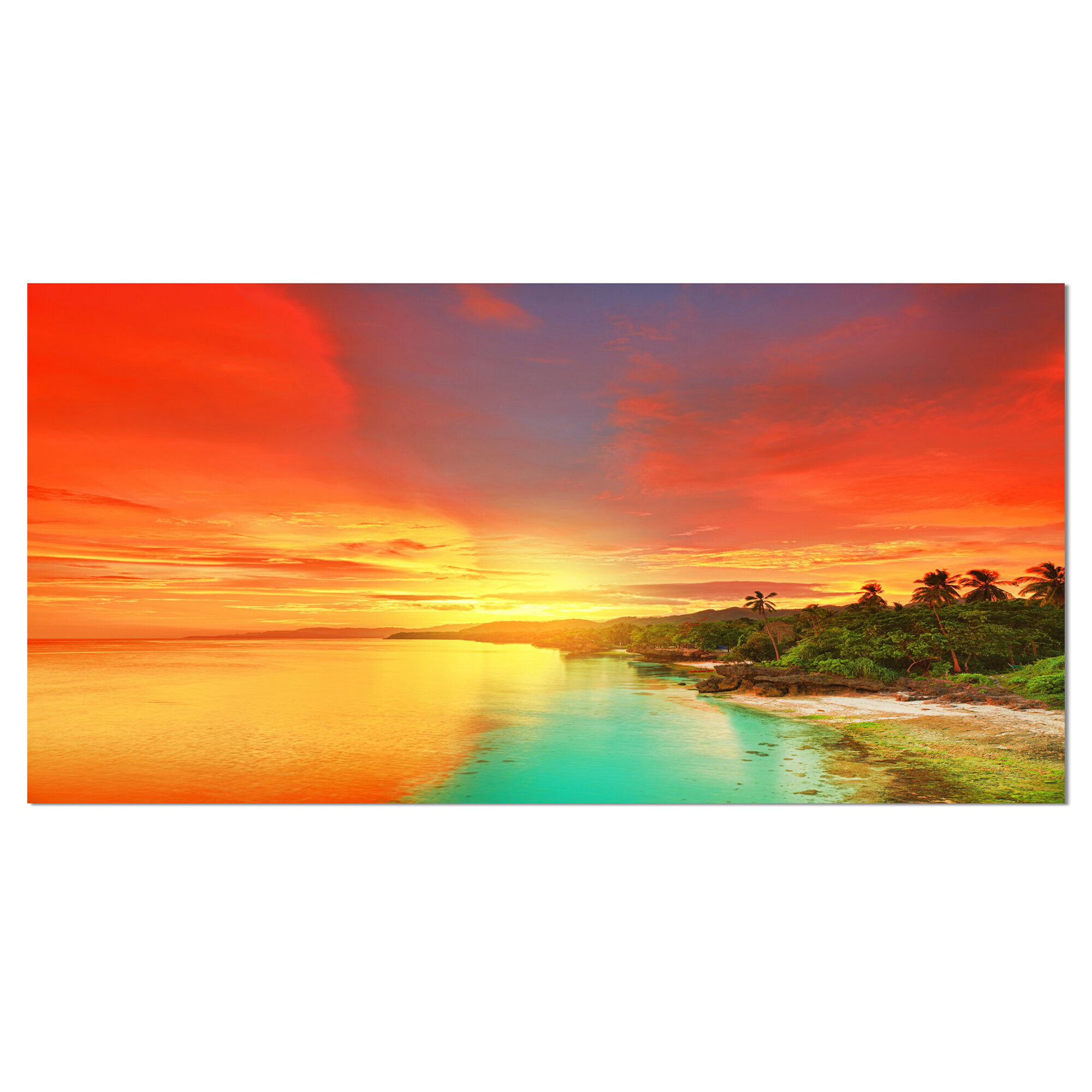 Designart Beautiful Coastline In Philippines Photographic Print On Wrapped Canvas Wayfair