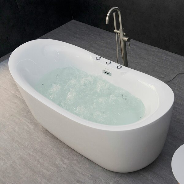 freestanding tub with jets | wayfair