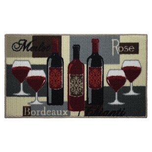 Textured Loop Wine Time Kitchen Area Rug by Structures