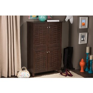 Carnegie 18-Pair Shoe Storage Cabinet