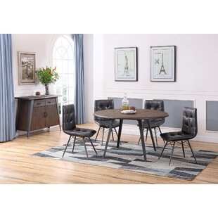 Bodesha 5 Piece Solid Wood Dining Set 17 Stories