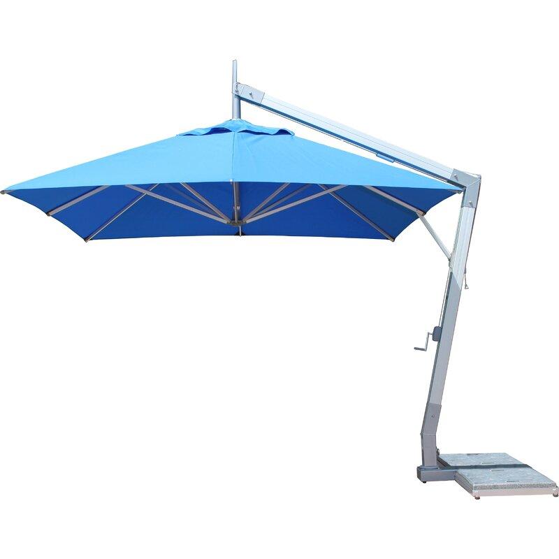 Bambrella Side Wind Hurricane 10 Square Cantilever Umbrella