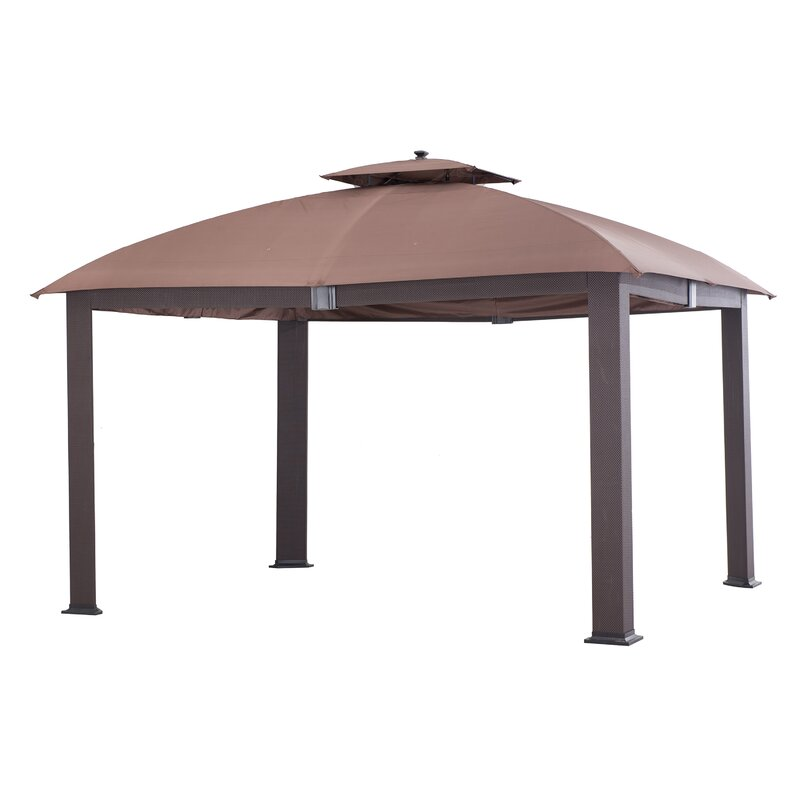 Sunjoy Halcombe Softtop Dome Roof 12 Ft W X 10 Ft D Metal Patio Gazebo Reviews Wayfair