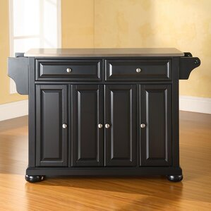 Pottstown Kitchen Island with Stainless Steel Top by Darby Home Co
