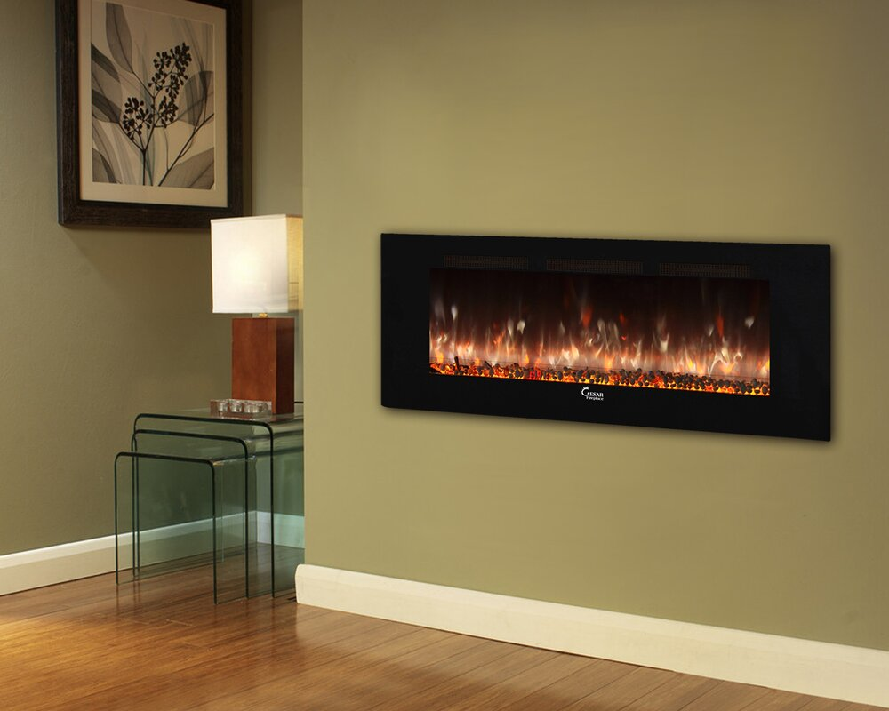Brayden Studio Brentwood Linear Wall Mount Electric Fireplace ...